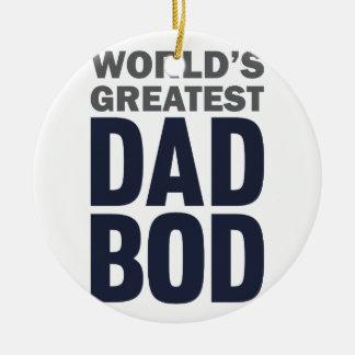 La plus grande DBO de papa Ornement Rond En Céramique