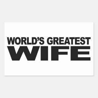 La plus grande épouse du monde autocollant rectangulaire