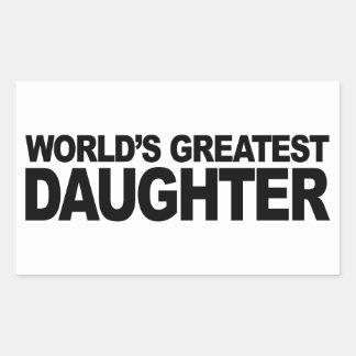La plus grande fille du monde autocollants en rectangle