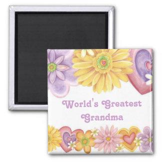 La plus grande grand-maman 1 du monde aimant pour réfrigérateur