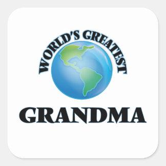 La plus grande grand-maman du monde sticker carré