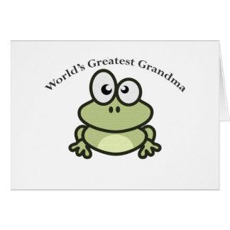 La plus grande grand-maman du monde carte de vœux
