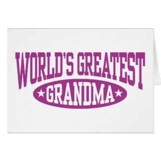 La plus grande grand-maman du monde cartes