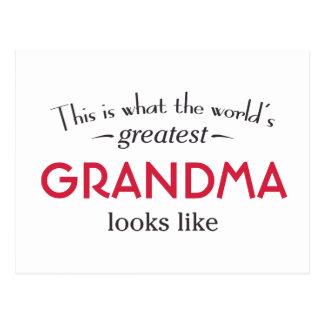 La plus grande grand-maman du monde cartes postales