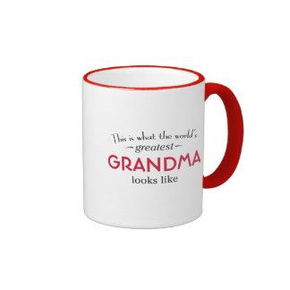 La plus grande grand-maman du monde mug ringer