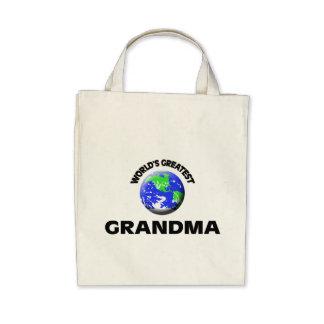 La plus grande grand-maman du monde sac en toile
