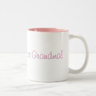 La plus grande grand-maman du monde ! mug bicolore