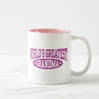La plus grande grand-maman du monde tasse 2 couleurs