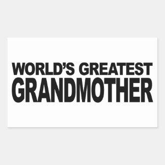 La plus grande grand-mère du monde autocollant rectangulaire