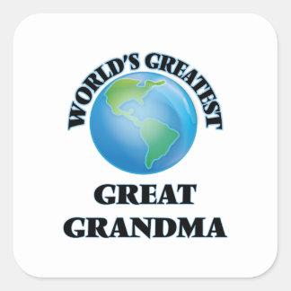 La plus grande grande grand-maman du monde sticker carré