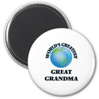 La plus grande grande grand-maman du monde aimants pour réfrigérateur