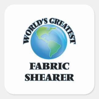 La plus grande haveuse du tissu du monde sticker carré