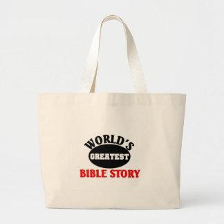 La plus grande histoire de la bible du monde sacs en toile