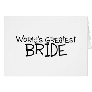 La plus grande jeune mariée des mondes carte de vœux