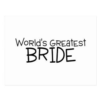 La plus grande jeune mariée des mondes cartes postales