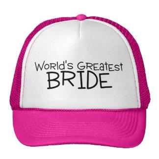 La plus grande jeune mariée des mondes casquettes de camionneur