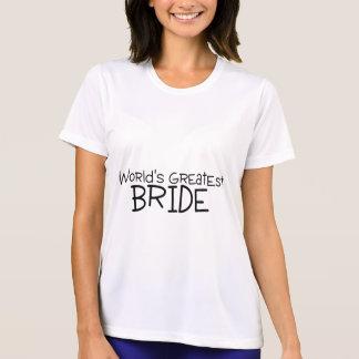 La plus grande jeune mariée des mondes t-shirt