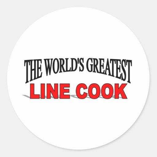 La plus grande ligne cuisinier du monde adhésifs ronds