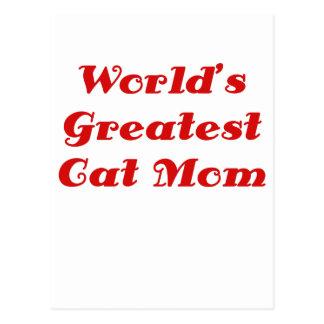 La plus grande maman de chat des mondes cartes postales