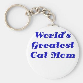 La plus grande maman de chat des mondes porte-clés