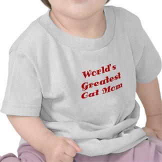 La plus grande maman de chat des mondes t-shirt