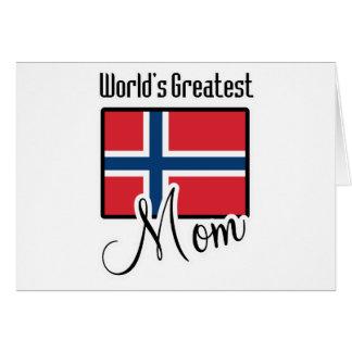 La plus grande maman de la Norvège du monde Carte De Vœux
