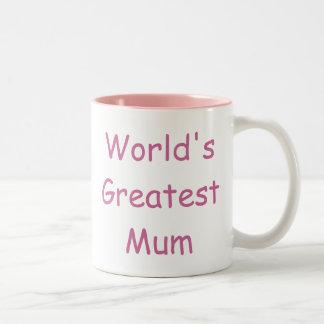 La plus grande maman des mondes mug bicolore