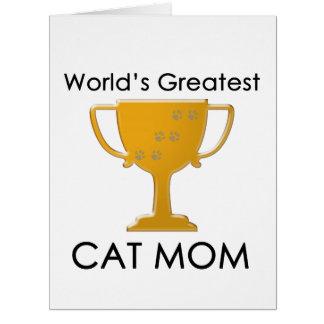 La plus grande maman du chat du monde cartes de vœux