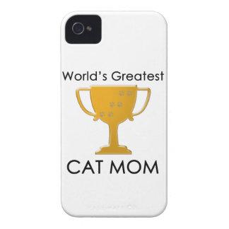 La plus grande maman du chat du monde coque iPhone 4 Case-Mate