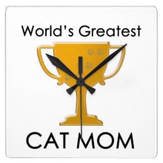 La plus grande maman du chat du monde horloges murales