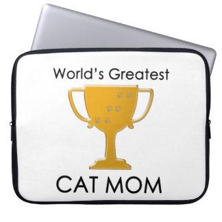 La plus grande maman du chat du monde trousses ordinateur