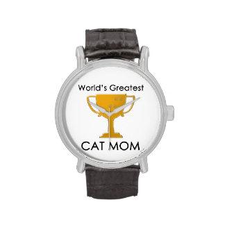 La plus grande maman du chat du monde montres bracelet