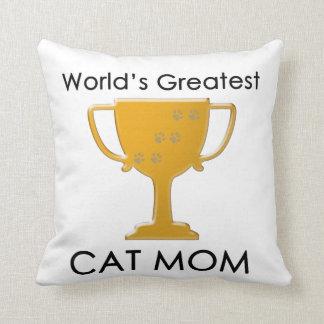 La plus grande maman du chat du monde oreillers