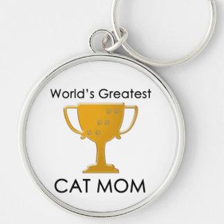 La plus grande maman du chat du monde porte-clefs