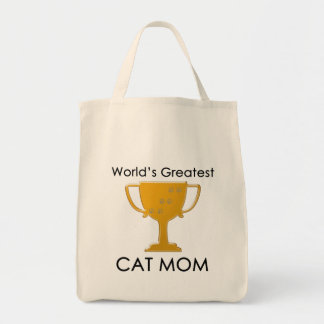 La plus grande maman du chat du monde sacs en toile