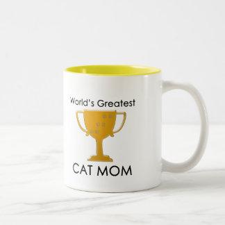 La plus grande maman du chat du monde tasse