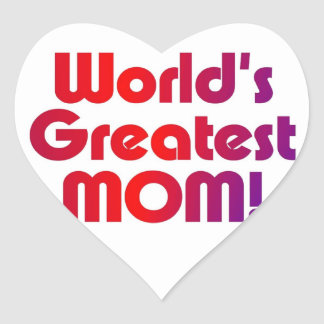 La plus grande maman du monde sticker cœur