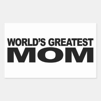 La plus grande maman du monde sticker rectangulaire