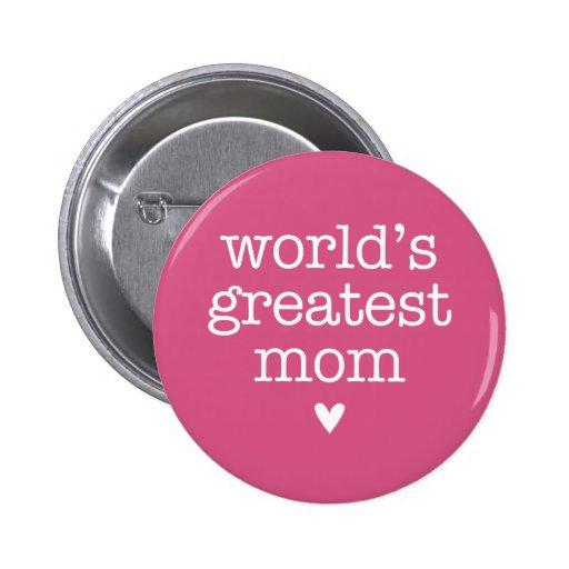 La plus grande maman du monde avec le coeur pin's