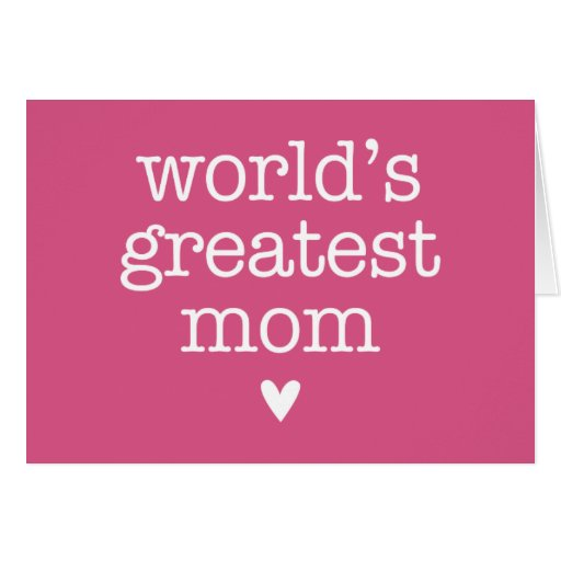 La plus grande maman du monde avec le coeur cartes
