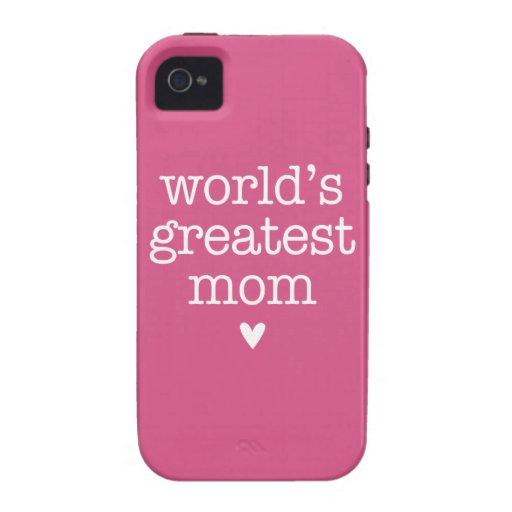La plus grande maman du monde avec le coeur étui iPhone 4/4S