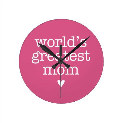 La plus grande maman du monde avec le coeur pendule murale