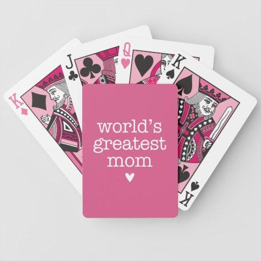 La plus grande maman du monde avec le coeur jeu de cartes