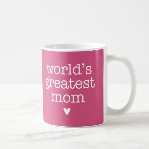 La plus grande maman du monde avec le coeur tasse à café