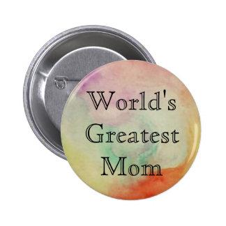 La plus grande maman du monde badge rond 5 cm
