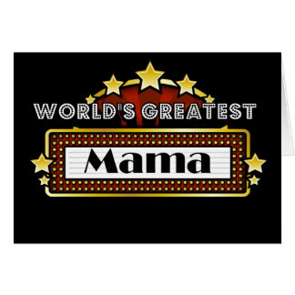 La plus grande maman du monde carte de vœux