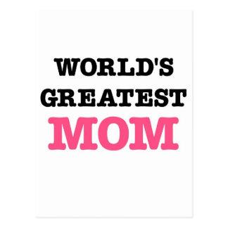 La plus grande maman du monde carte postale