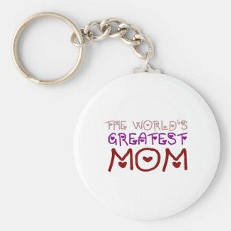 La plus grande maman du monde (le jour et porte-clé rond