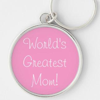La plus grande maman du monde ! porte-clé rond argenté