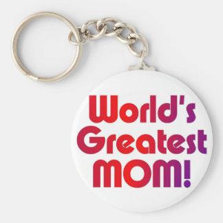 La plus grande maman du monde porte-clé rond